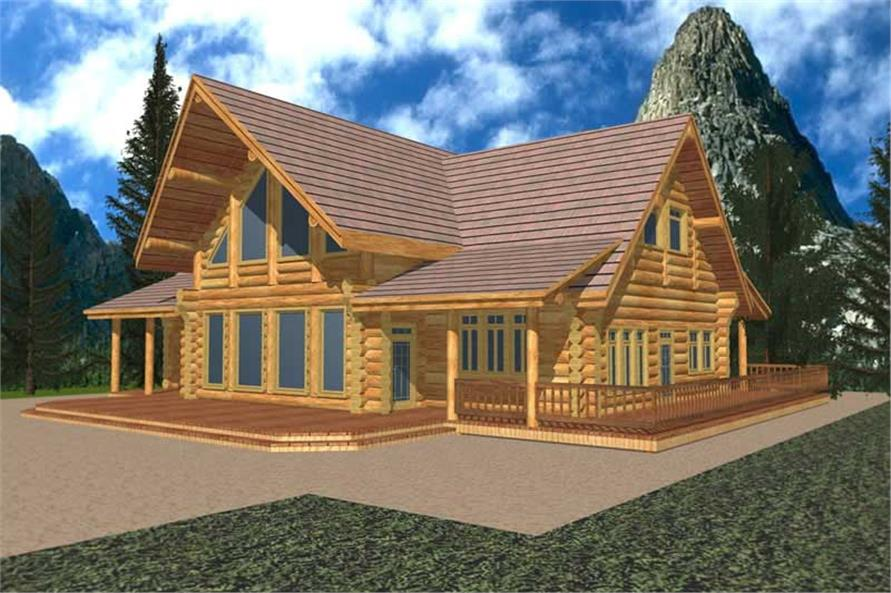 Log Housplans Main Elevation Image.