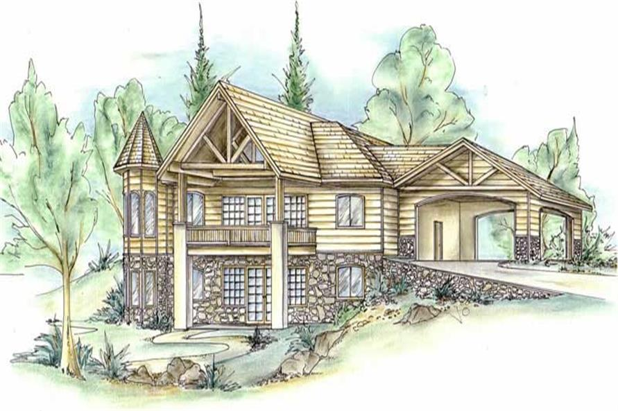 Main image for house plan # 8439