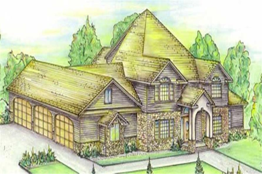 Main image for house plan # 8440