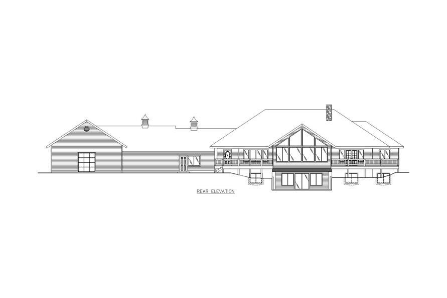 132-1473: Home Plan Rear Elevation