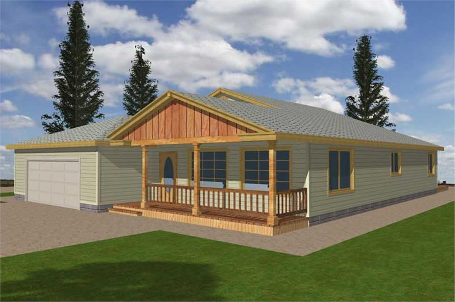 Main image for house plan # 9728