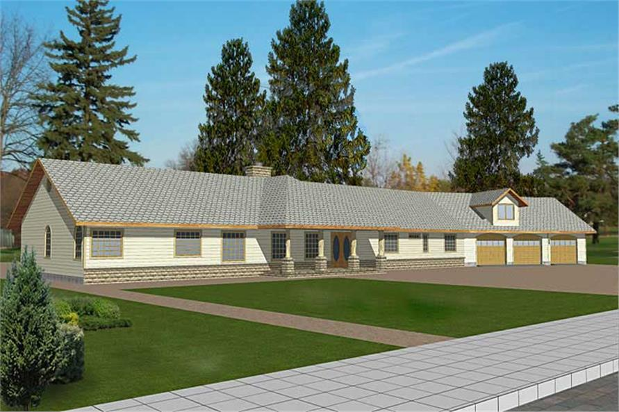 Main image for house plan # 8805