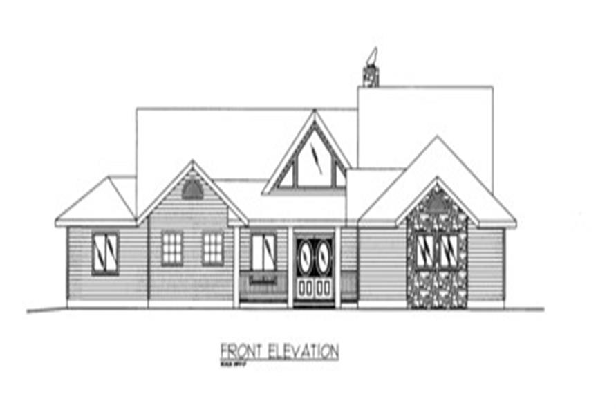 132-1522: Home Plan Front Elevation