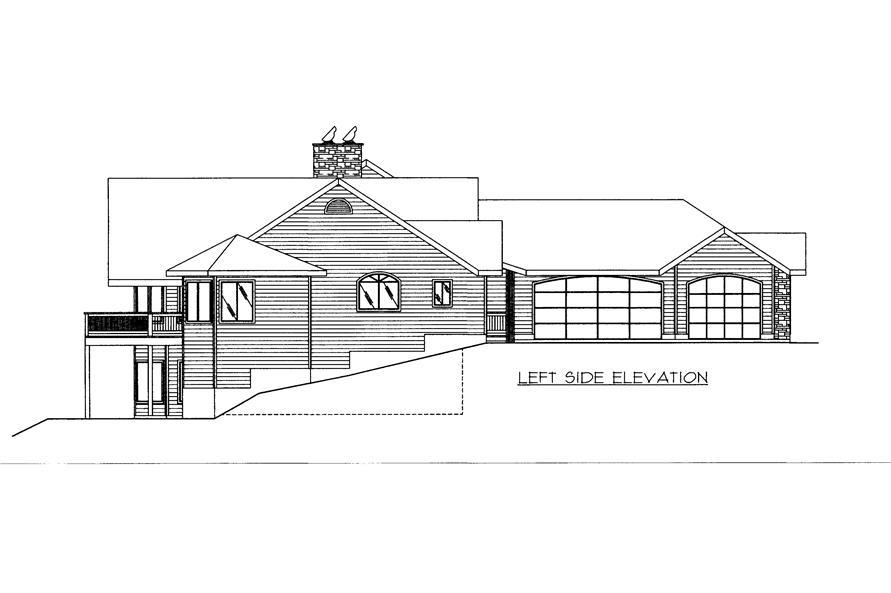 132-1522: Home Plan Left Elevation