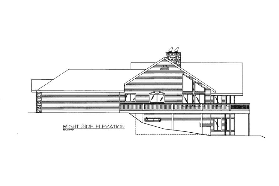 132-1522: Home Plan Right Elevation