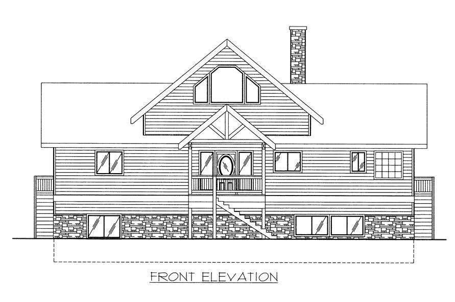 132-1523: Home Plan Front Elevation