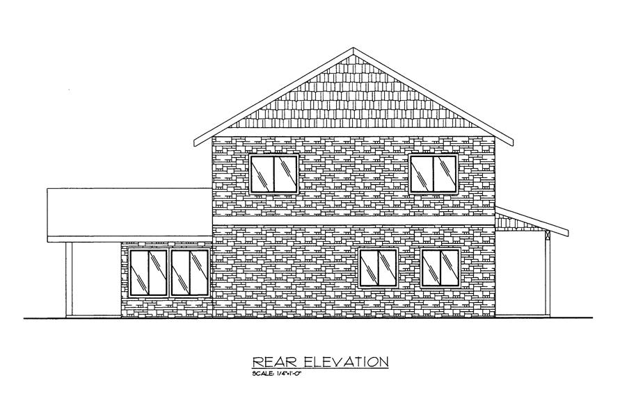 132-1524: Home Plan Rear Elevation