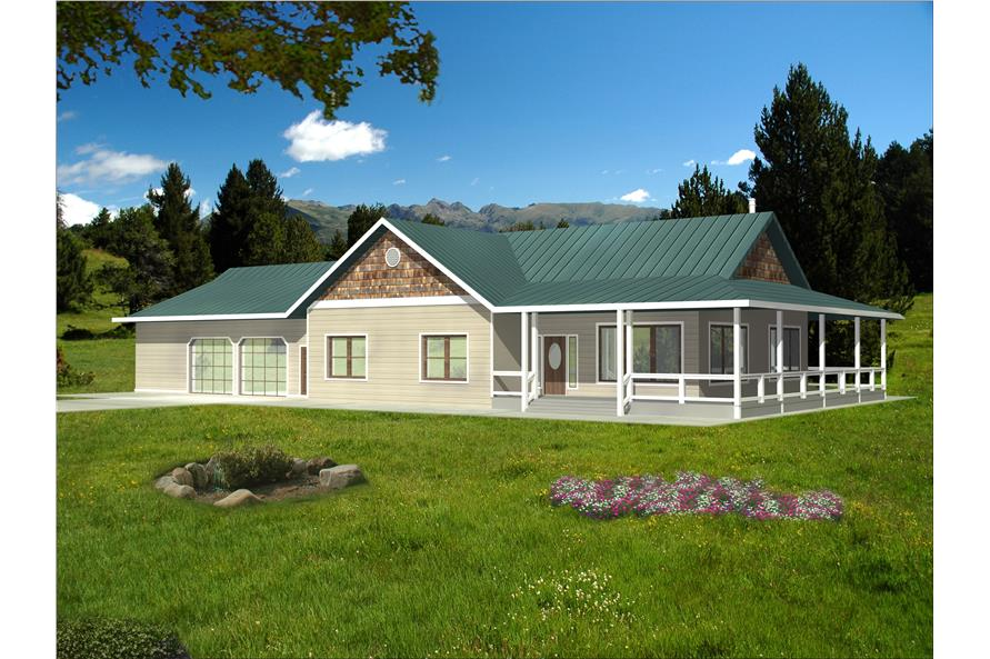 Front elevation of Traditional home (ThePlanCollection: House Plan #132-1525)
