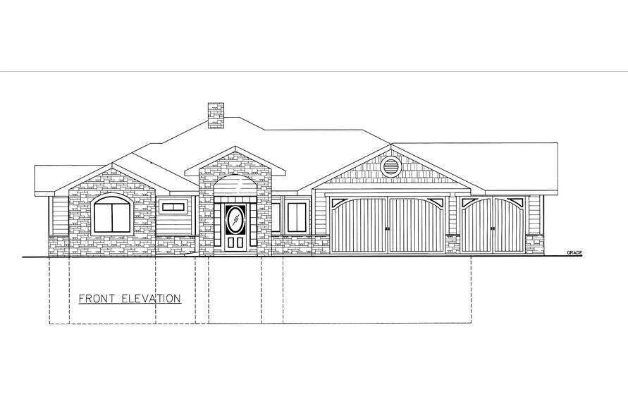 132-1529: Home Plan Front Elevation