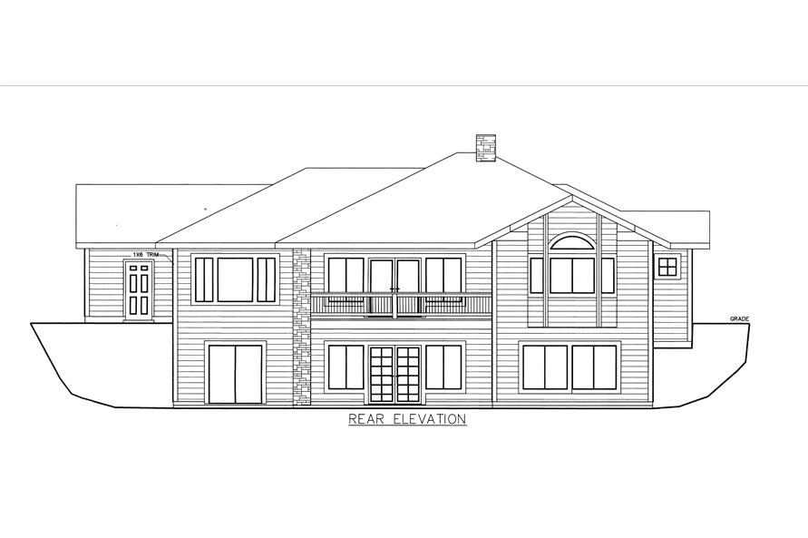 132-1529: Home Plan Rear Elevation