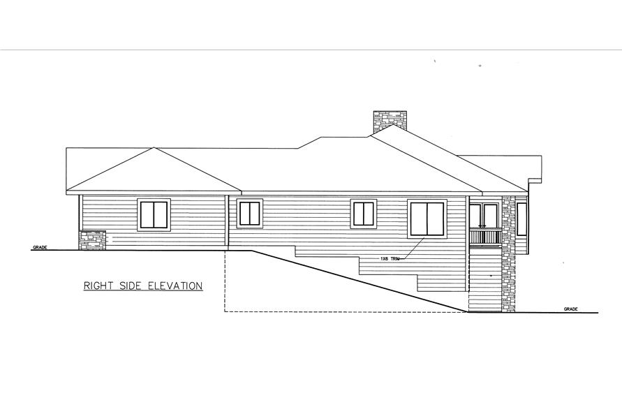 132-1529: Home Plan Right Elevation