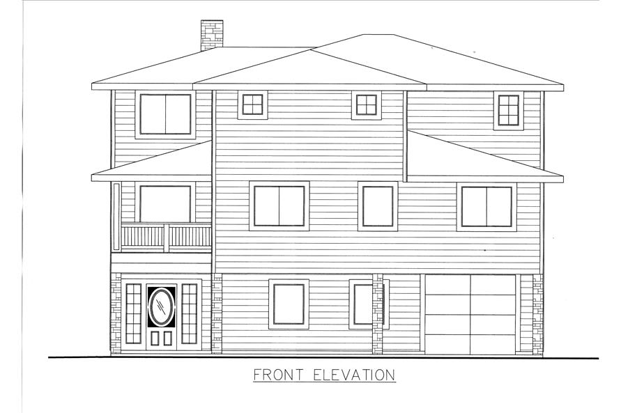 132-1530: Home Plan Front Elevation