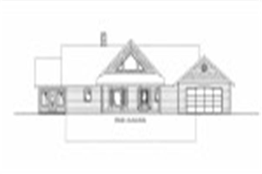 132-1531: Home Plan Front Elevation