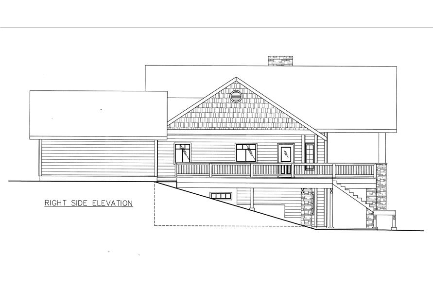 132-1531: Home Plan Right Elevation