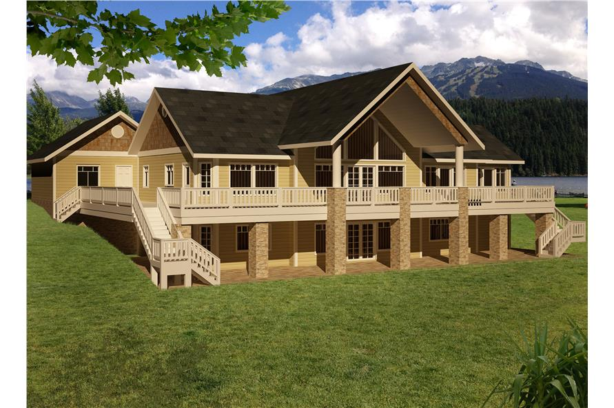 Front elevation of Traditional home (ThePlanCollection: House Plan #132-1531)