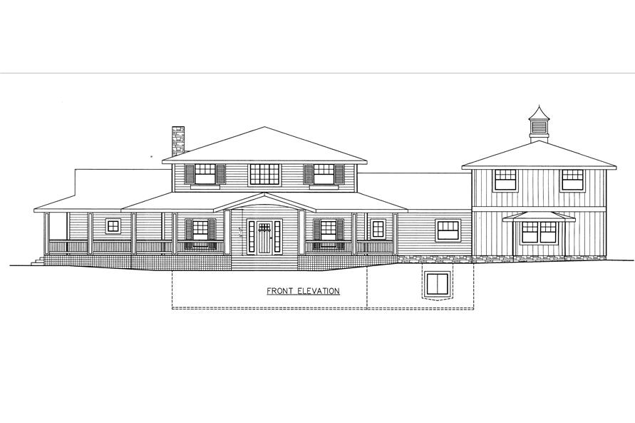 132-1532: Home Plan Front Elevation