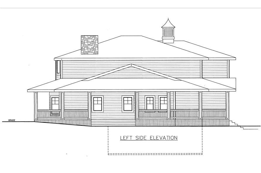 132-1532: Home Plan Left Elevation