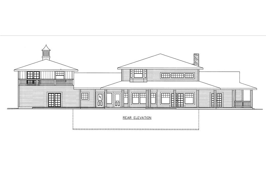 132-1532: Home Plan Rear Elevation