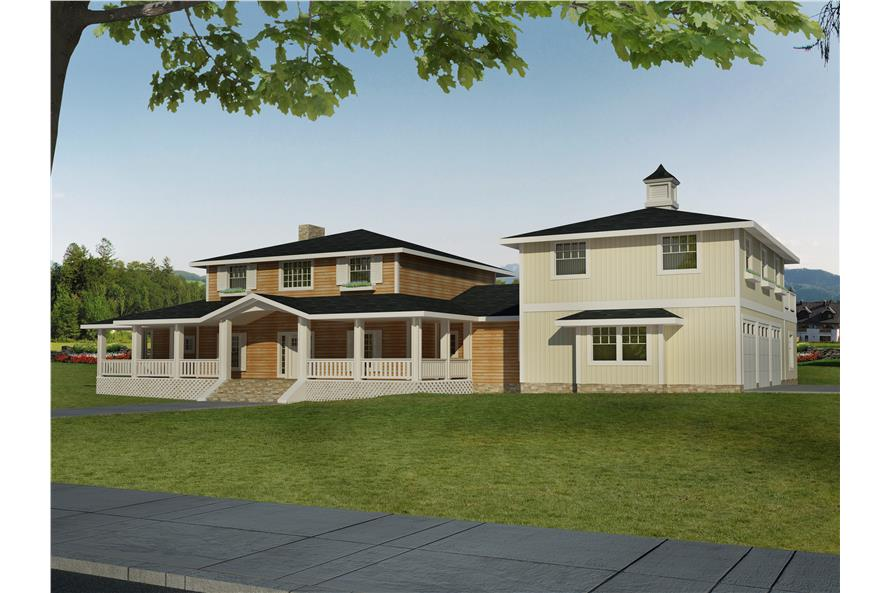 Front elevation of Traditional home (ThePlanCollection: House Plan #132-1532)