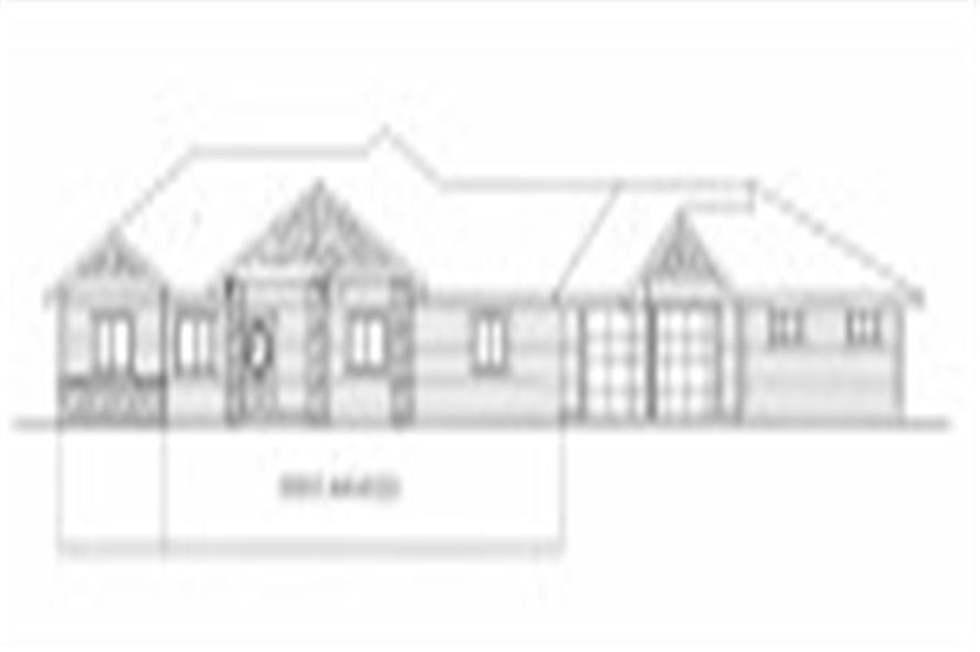 132-1533: Home Plan Front Elevation
