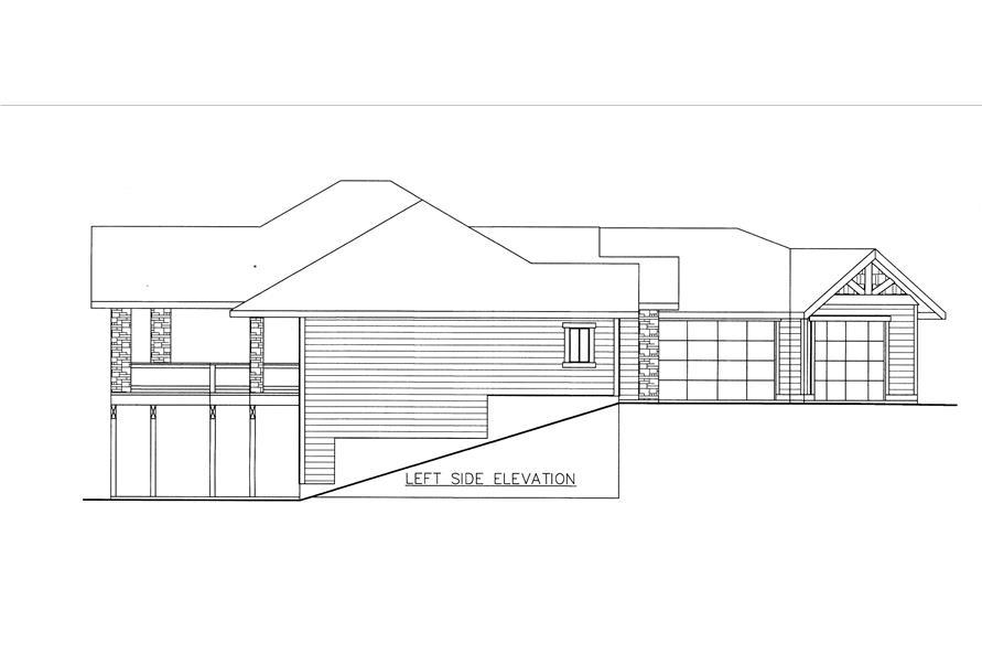 132-1533: Home Plan Left Elevation