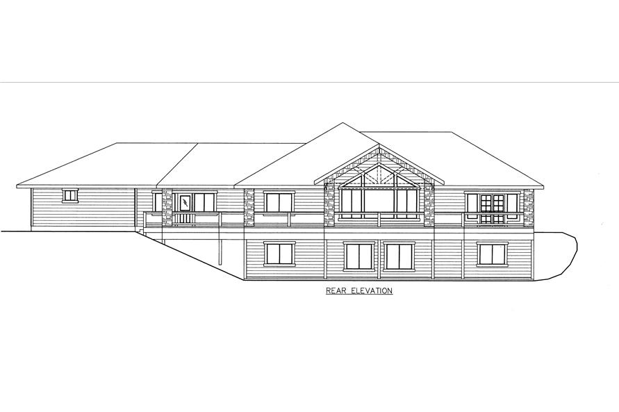 132-1533: Home Plan Rear Elevation