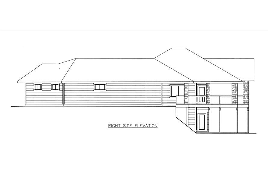 132-1533: Home Plan Right Elevation