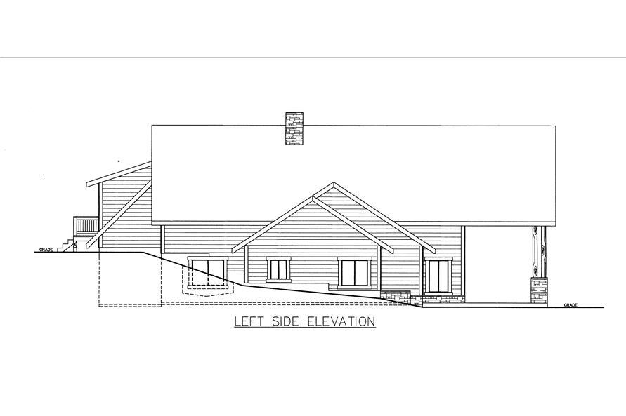 132-1535: Home Plan Left Elevation