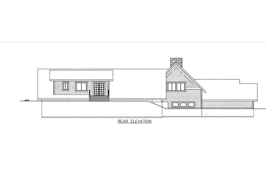 132-1535: Home Plan Rear Elevation