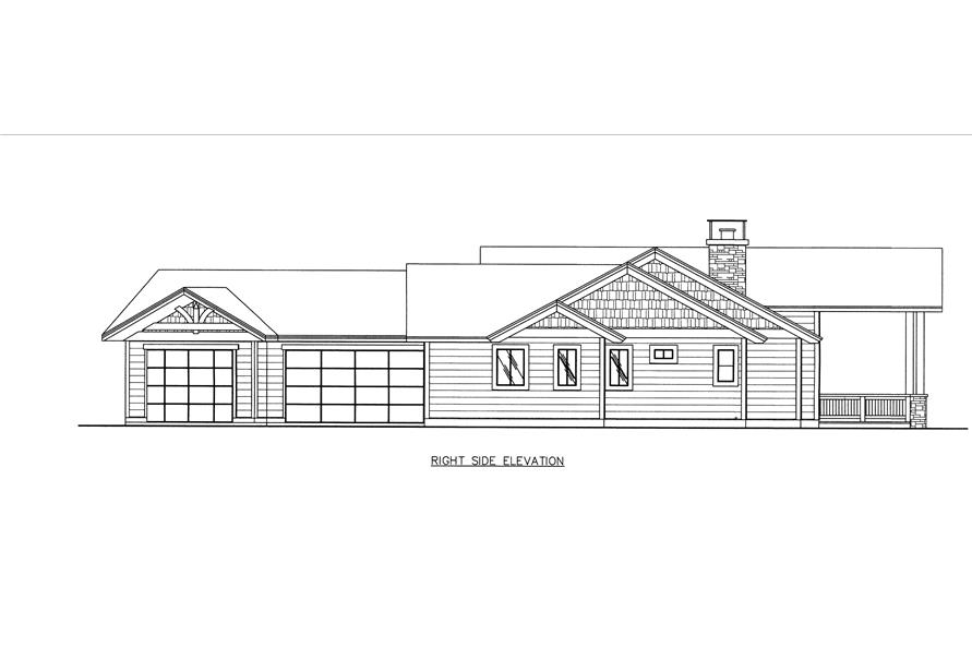 132-1538: Home Plan Right Elevation