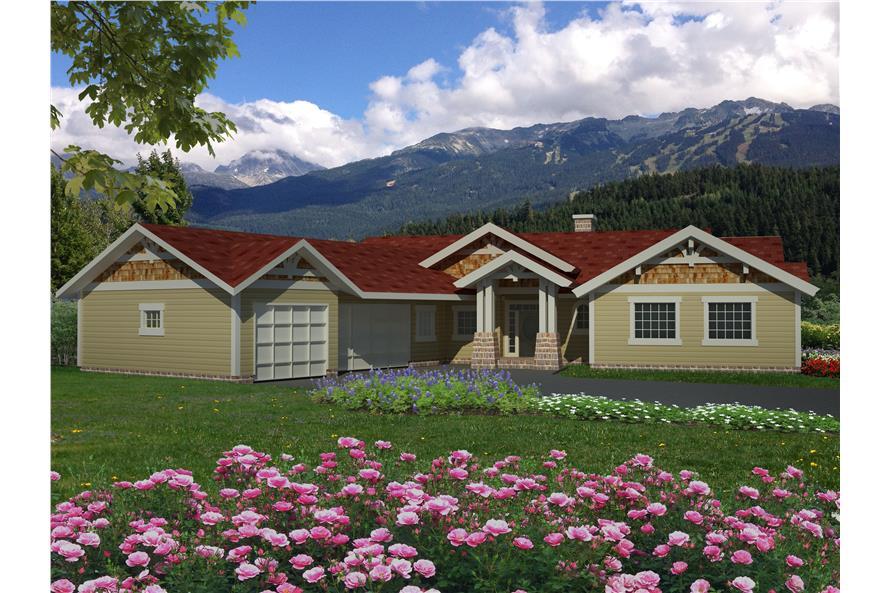 132-1538: Home Plan Rendering