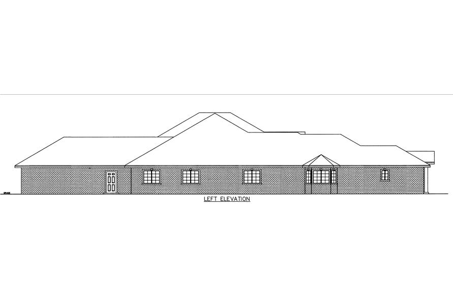 132-1540: Home Plan Left Elevation