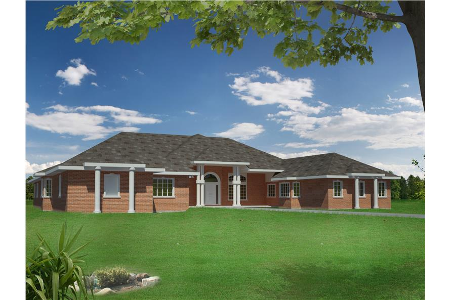Front elevation of Traditional home (ThePlanCollection: House Plan #132-1540)