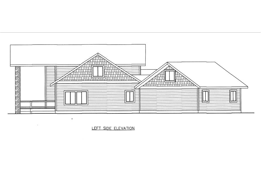 132-1541: Home Plan Left Elevation
