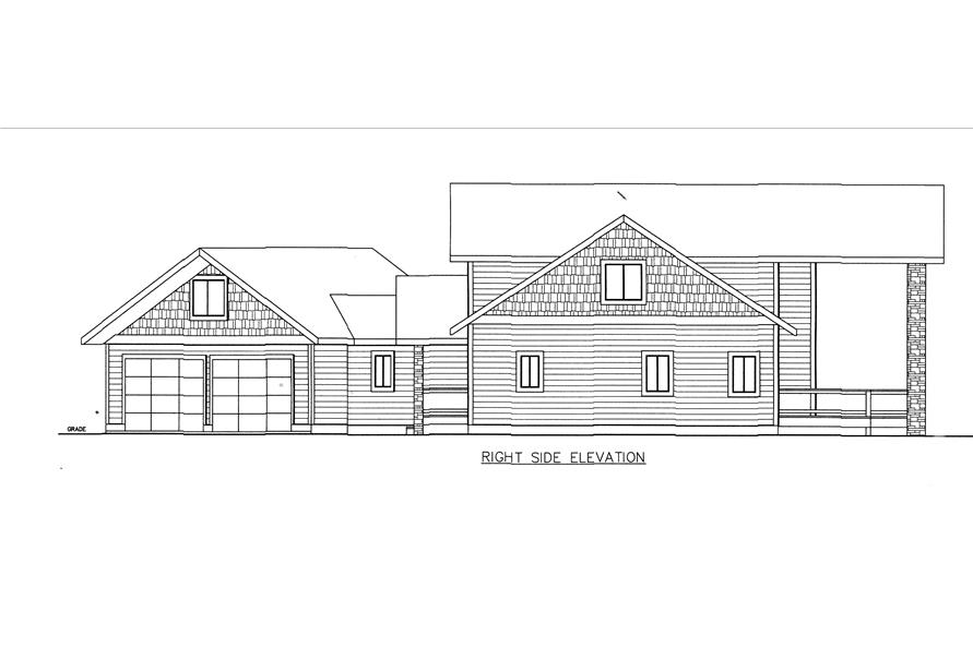 132-1541: Home Plan Right Elevation