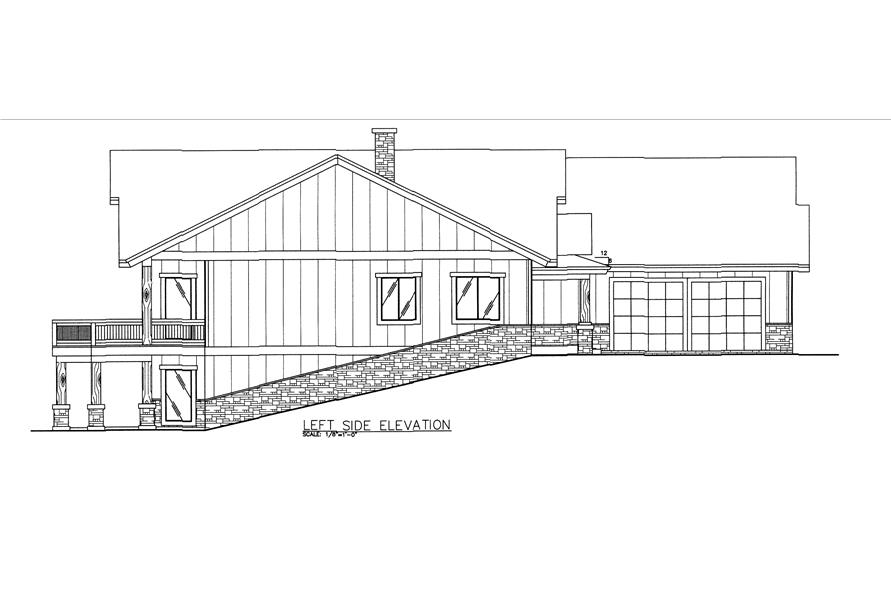 132-1542: Home Plan Left Elevation