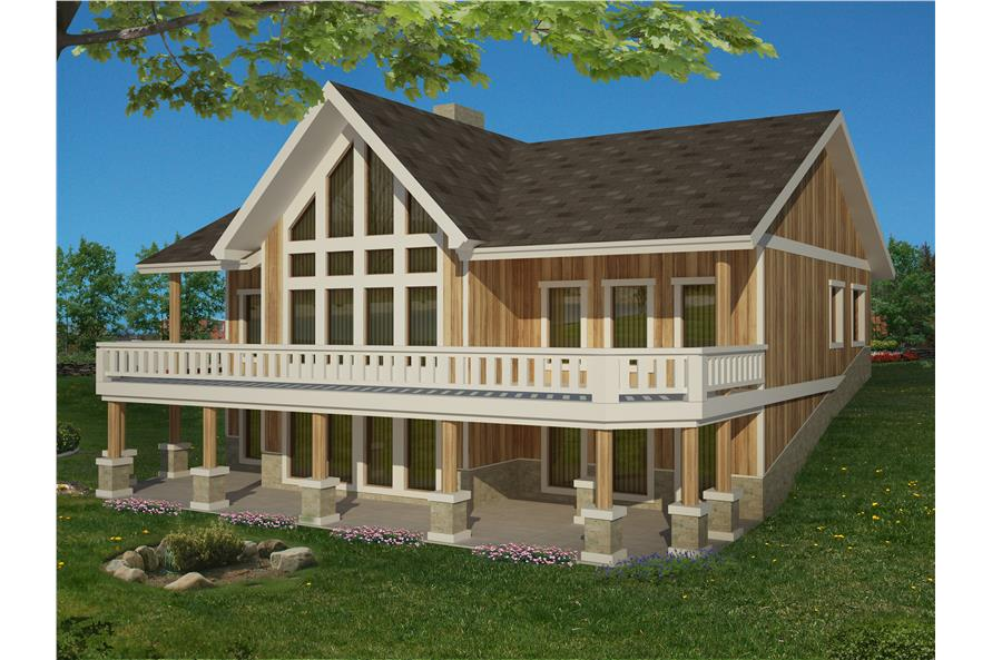 Front elevation of Transitional home (ThePlanCollection: House Plan #132-1542)
