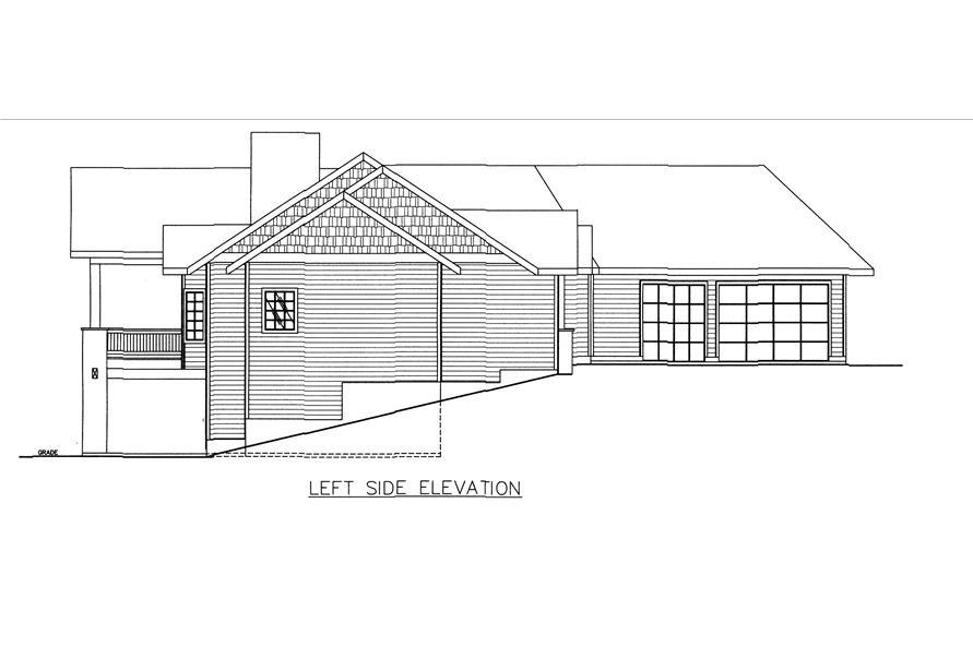 132-1543: Home Plan Left Elevation