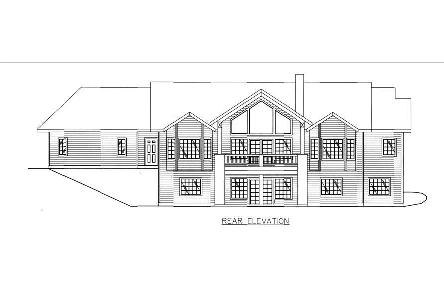 132-1543: Home Plan Rear Elevation