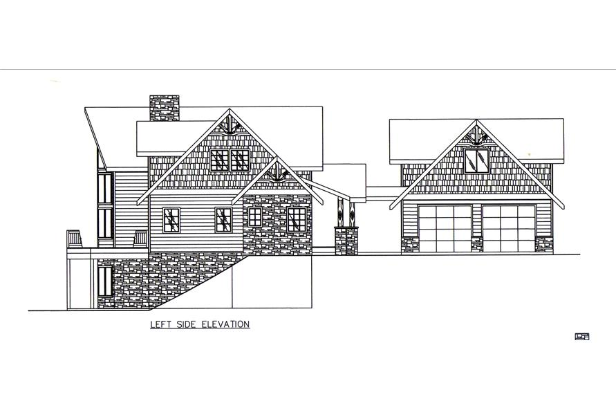 132-1545: Home Plan Left Elevation