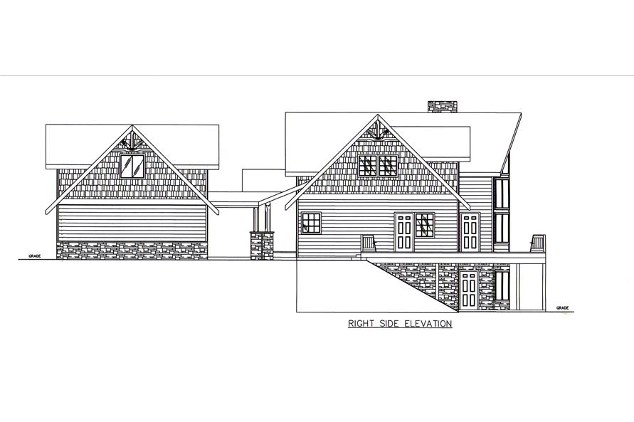 132-1545: Home Plan Right Elevation