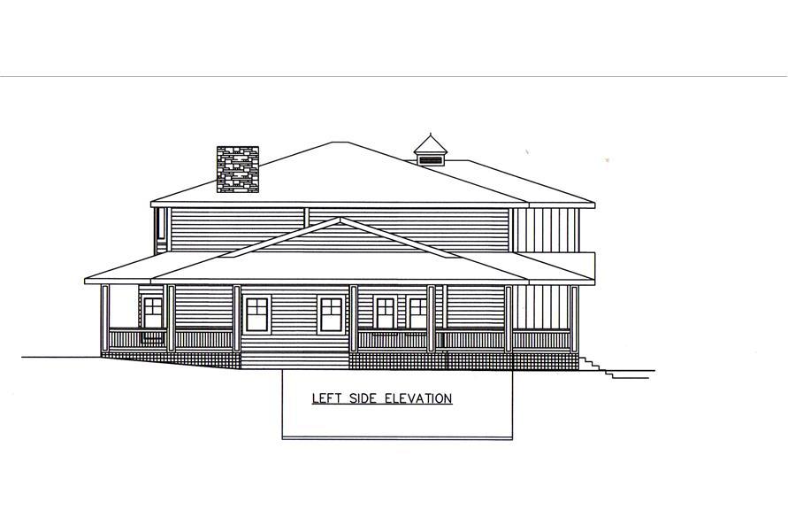 132-1548: Home Plan Left Elevation