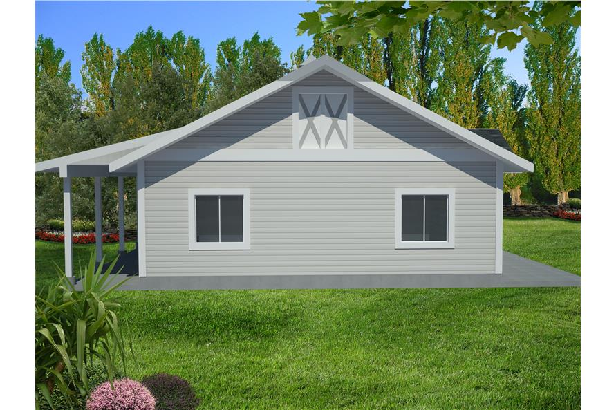 Front elevation of Garage home (ThePlanCollection: House Plan #132-1549)
