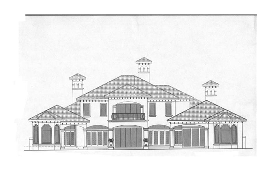 133-1059 house plan rear elevation