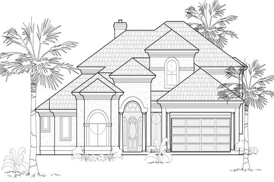 Main image for house plan # 19147