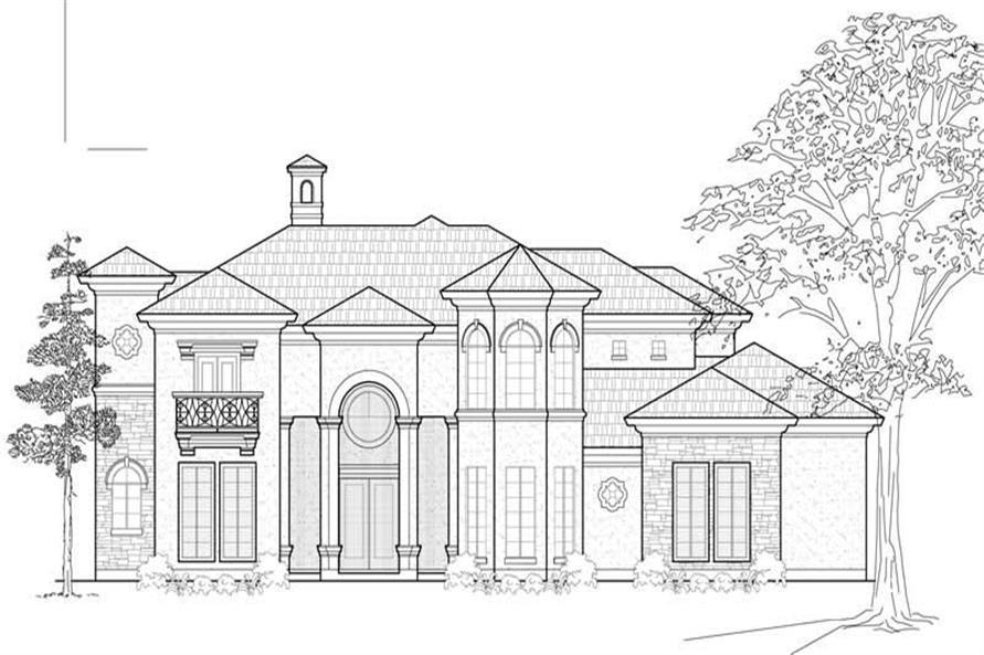 134-1013: Home Plan Front Elevation