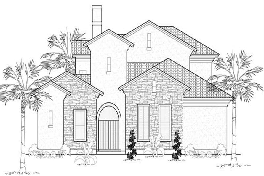 Main image for house plan # 19098