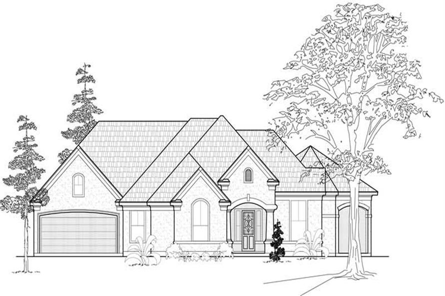 Main image for house plan # 18992