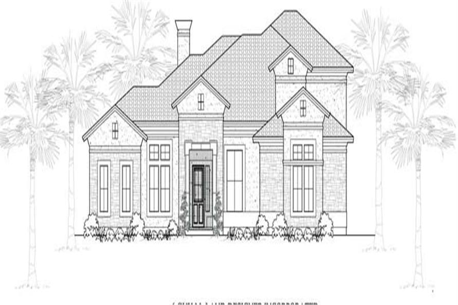 Main image for house plan # 19088