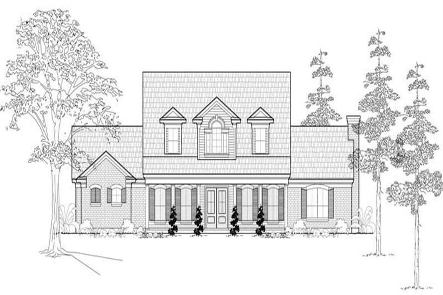 Main image for house plan # 19070